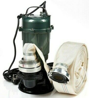 """Submersible pump 2 """" INCH 2950L IDEAL FOR DIRTY WATER...with 20 m of hose"""