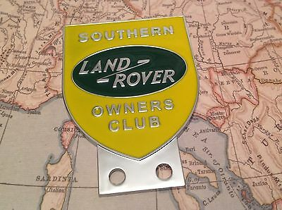 Land Rover Owners Club Southern Series 1 2 2a 3 Front Panel Metal Grille Badge