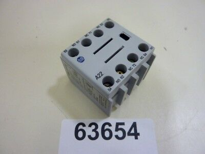 Allen Bradley Auxiliary Contact Block 100-FA22 Ser A Used #63654
