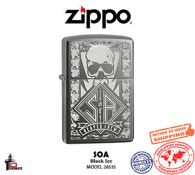 Zippo Choice Sons of Anarchy Reaper Crew Black Ice Windproof Lighter 28757