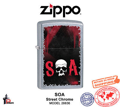 Zippo SOA Lighter Street Chrome Classic USA Genuine Windproof 28836