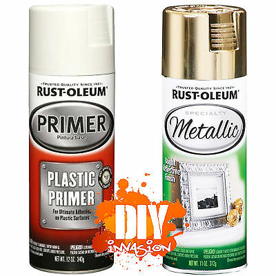 Rust-Oleum Metallic Reflective Gold Leafing Leaf Spray Paint & Plastic Primer