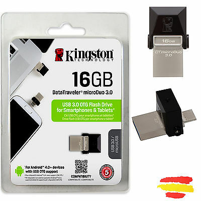 Pendrive Kingston 16Gb Memoria Usb 3.0 Pen Drive 16 Gb Original Otg Móvil