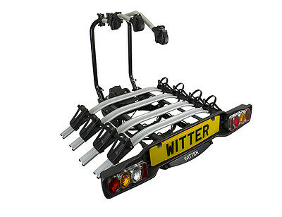 Witter ZX504 Tow Bar Mounted 4 / Four Bike Cycle Carrier