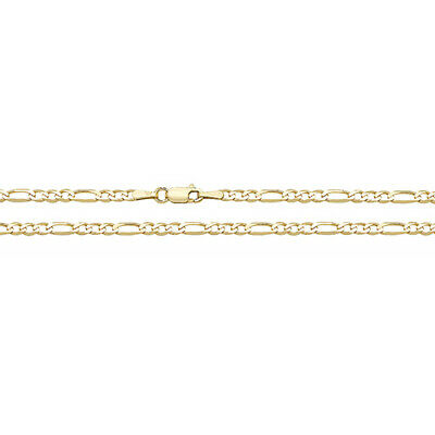 9 Carat Yellow Gold NEW Figaro Chain Anklet  2.3 grams