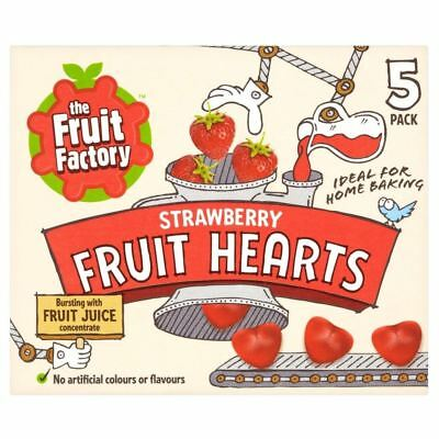 The Fruit Factory Strawberry Fruit Hearts (5x20g)