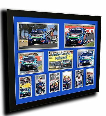 Bathurst 2014 Chaz Mostert Paul Morris Signed Limited Edition Framed Memorabilia