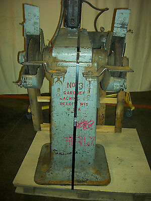 Industrial 5 HP 3 Phase Gardner Pedestel Mount Grinder Machine 1750 RPM