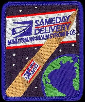 USAF 341st MISSILE WING -MINUTEMAN III SAMEDAY DELIVERY ORIGINAL AIR FORCE PATCH