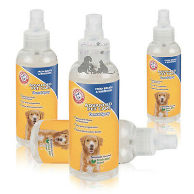 Advanced Pet Care Dental Spray Whitens Teeth Fights Tartar Spearmint Flavour