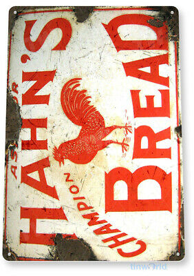 TIN SIGN Hahn's Bread Metal Décor Wall Art Kitchen Cottage Farm Store A721