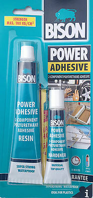 Bison Power 2-Component Polyurethane Adhesive Superstrong Waterproof Bonding New