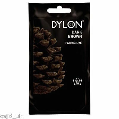 Dylon Fabric and Clothes Hand Dye 50g - Dark Espresso Brown