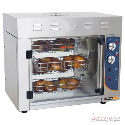 Chicken Rotisserie Fits 8 Birds 15 Amp Anvil Apex Counter Top Commercial NEW