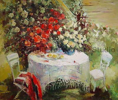 "Original Dining Table Handmade Impasto Abstract Oil Painting on Canvas, 36"" x 30"