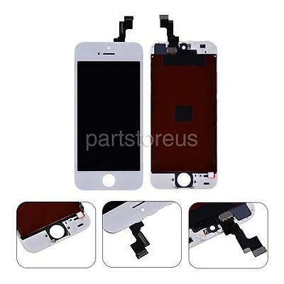 USA White LCD Screen Touch Digitizer + Frame Repalcement Parts For iPhone 5S SE