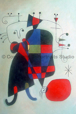 """Abstract Figures, Original Hand Painted Modern Oil Painting on Canvas, 24"""" x 36"""""""