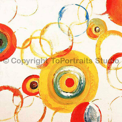 """Abstract Circles, Original Contemporary Oil Painting on Canvas, 30"""" x 30"""""""