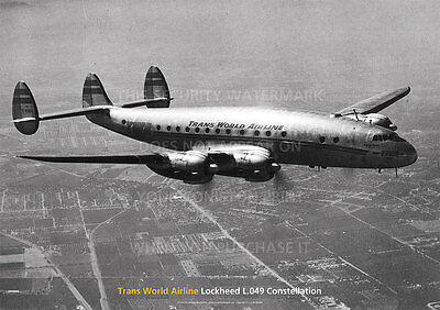 Twa Lockheed L.049 Constellation Aircraft A3 Poster Print Picture Photo Image