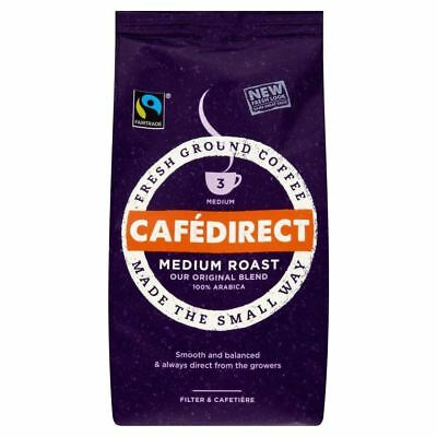 Cafédirect Fairtrade Medium Roast Ground Coffee (227g)