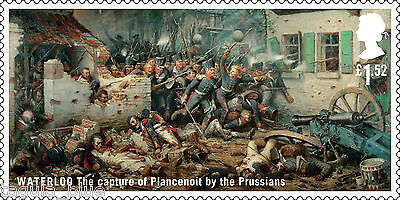 "Waterloo - ""The capture of Plancenoit by the Prussians"" on 2015 stamp - U/M"