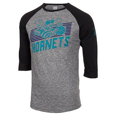 NBA Basketball T-Shirt CHARLOTTE HORNETS Thunder Alliance Raglan