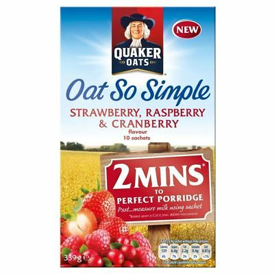 Quaker Oat So Simple Strawberry, Raspberry & Cranberry (10 per pack - 339g)