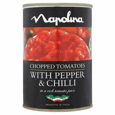 Napolina Chopped Tomatoes with Peppers & Chilli in Tomato Juice (400g)