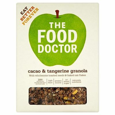 The Food Doctor Cacao & Tangerine Granola (425g) • AUD 12.75