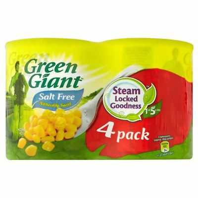 Green Giant Naturally Sweet Sweetcorn No Added Salt (4x198g)