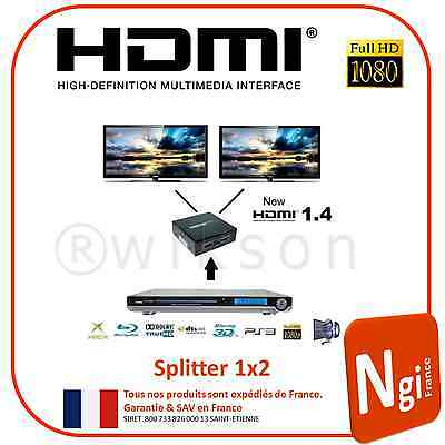 NGI-HDMI Commutateur de distribution/ Splitter1x2 1080p Full HD 3d