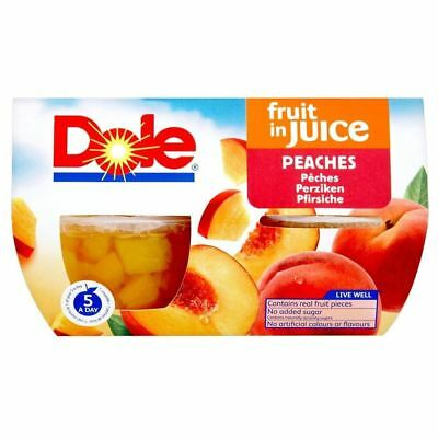 Dole Fruit Bowl Peaches in Juice (4x113g)