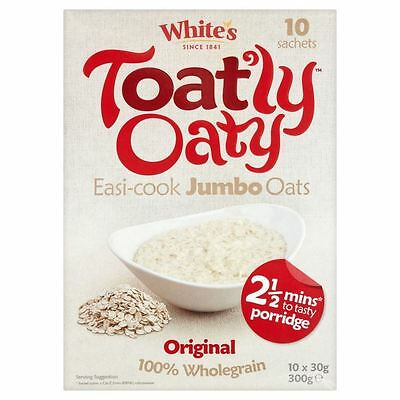 White's Toat'ly Oaty Easi-Cook Jumbo Oats Original (10 per pack - 300g)