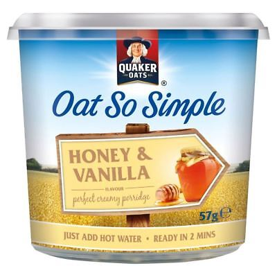 Quaker Oat So Simple Honey & Vanilla (57g)