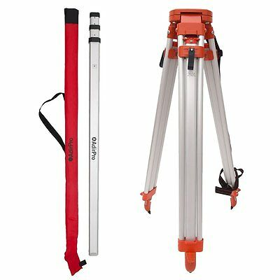 Aluminum Tripod & 9' Rod (10th) Package, Construction, Auto Level Transit, Laser