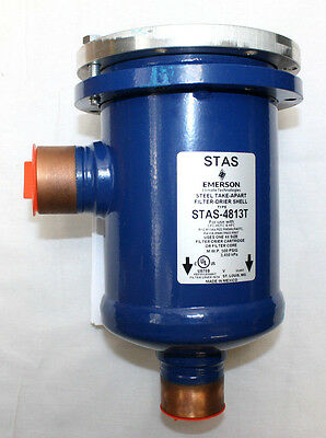 New! Emerson Steel Take-Apart Filter-Drier Shell STAS-4813T