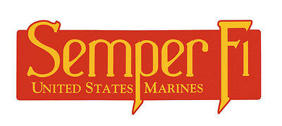 Red USMC US Marine Corps Marines Veteran SEMPER FI Car Bumper Sticker Decal