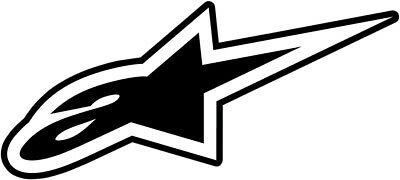 ALPINESTARS Astars DC Small Decal/Sticker (Black/White)