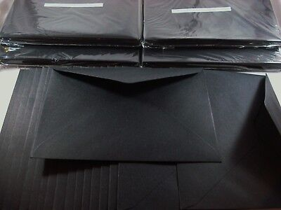 100 Kraft C6 Envelopes Black Recycled Craft Card Making Cardmaking FREE POSTAGE