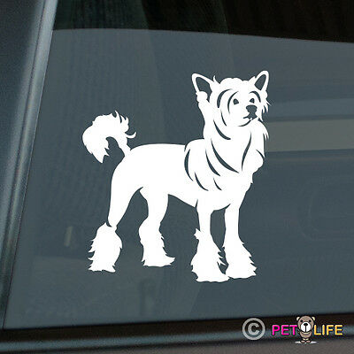 Chinese Crested Sticker Die Cut Vinyl - Puff