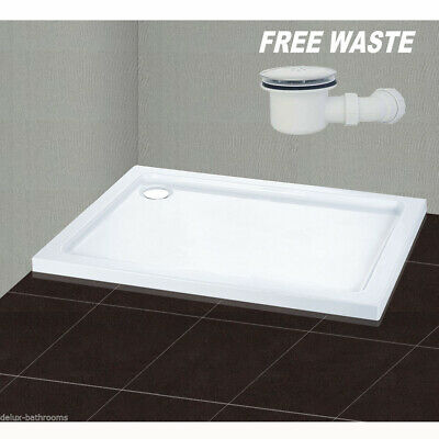 1000x800mm Rectangle Stone Shower Tray In Bath For Shower Enclosure Free Waste