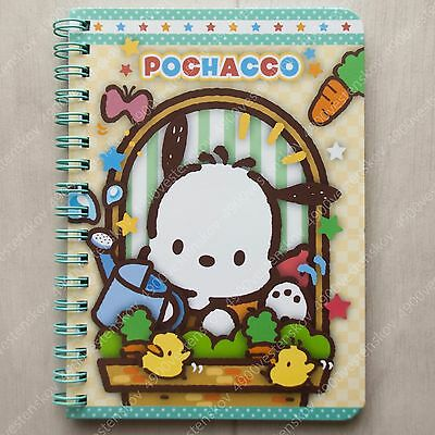 Sanrio Pocahcco cute dog planting carrot green wire-o notebook