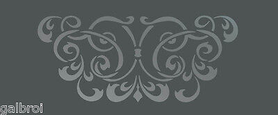 LARGE WALL DAMASK STENCIL PATTERN FAUX MURAL DECOR #1016 (Choose Custom Size)