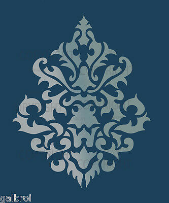 LARGE WALL DAMASK STENCIL PATTERN FAUX MURAL DECOR #1011 (Choose Custom Size)