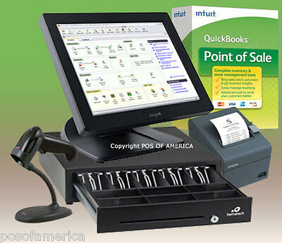 Posiflex Quickbooks POS PRO System All-in-one Station Complete Bundle NEW