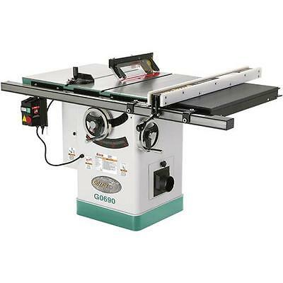 "G0690 Grizzly 10"" 3HP 220V Cabinet Table Saw with Riving Knife"