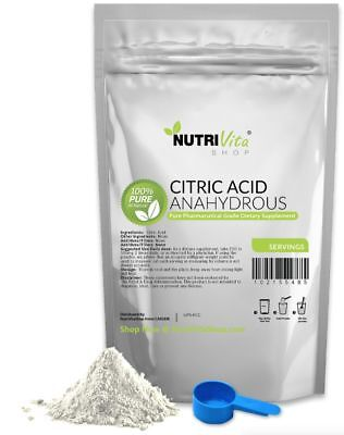 50 lbs 100% PURE CITRIC ACID ANHYDROUS -KOSHER/PHARMACEUTICAL USP32 GRADE-