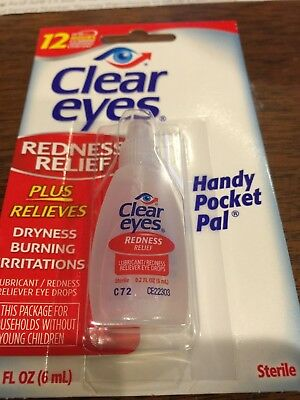 CLEAR EYES DROPS REDNESS RELIEF DRY EYES 0.2 OZ. 6 ML SOOTHING  exp 2018