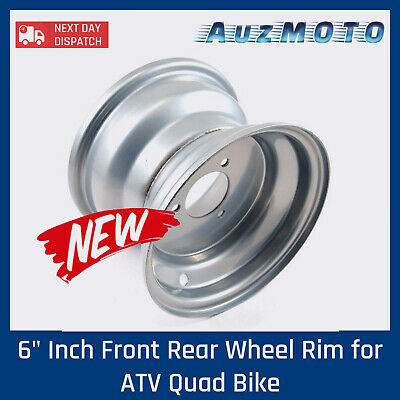 "6"" Inch Front Rear Wheel Rim for ATV Quad Bike Dune Buggy Ride on Mowers Go Kart"