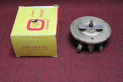 OHMITE 0524 Rheostat. 0.5 Ohm 150W Model L Used